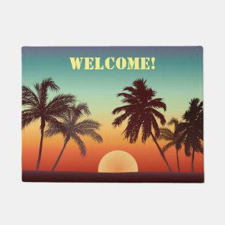 Paillasson Coucher du soleil fait sur commande de la Floride