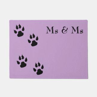 Paillasson Mme et Mme/pawprints