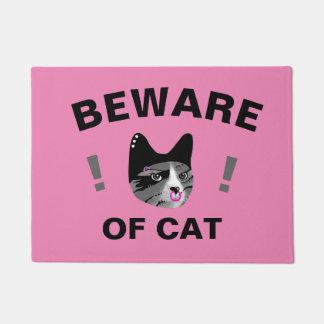 Paillasson Prenez garde du chat