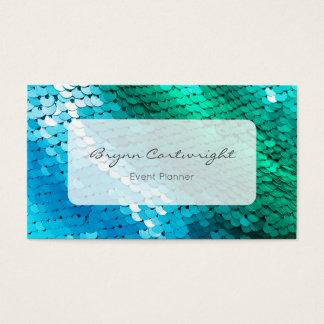 Paillette-blaues Grün-Meerjungfrau-Visitenkarte Visitenkarte