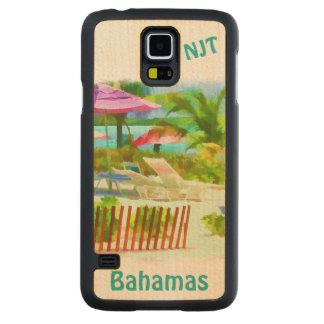 Painterly Bahamas-Sommer-Ferien-Strand-Szene