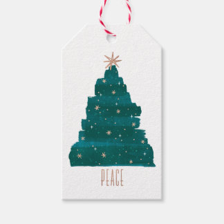 Painterly Baum-Weihnachtsgeschenk-Umbau Geschenkanhänger