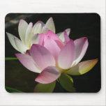 Paires de fleurs de Lotus II Tapis De Souris