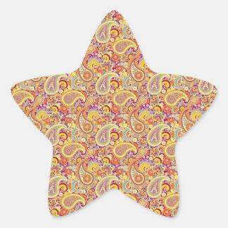 Paisley espiègle sticker étoile