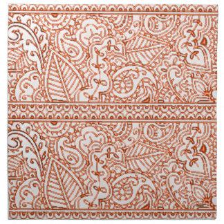 Paisley-Leidenschaft - Orange (Hennastrauch) Serviette