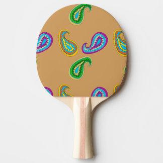Paisley-Muster auf Klingeln Pong Paddel Tischtennis Schläger