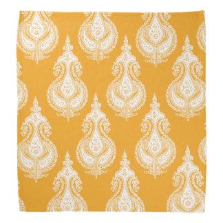 Paisley-Muster des orange Gelbs Halstuch