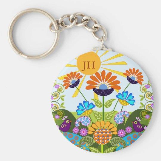 Paisley-Muster, Fantasie-Blumen u. Schlüsselanhänger