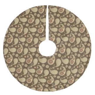 Paisley-Muster, weiches Gold auf Polyester Weihnachtsbaumdecke