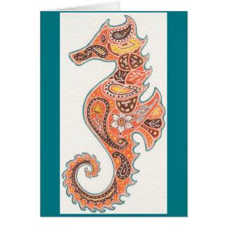 Paisley-Seepferd Grußkarte
