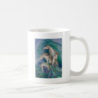 Paisley-Seepferde Kaffeetasse