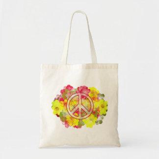 Paix de flower power sac en toile budget