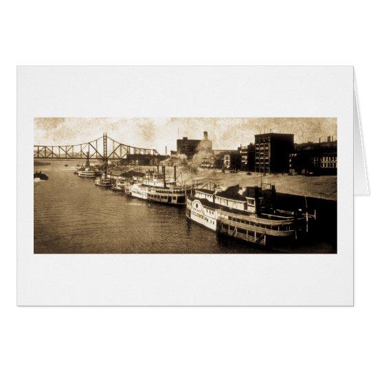 Paket, das Monongahela Fluss-Vintage Postkarte Grußkarte