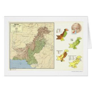 Pakistan führte Karte - 1973 einzeln auf