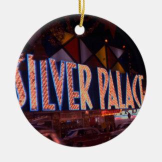 Palast-Kasino-Leuchtreklame 1959 Las Vegass Rundes Keramik Ornament