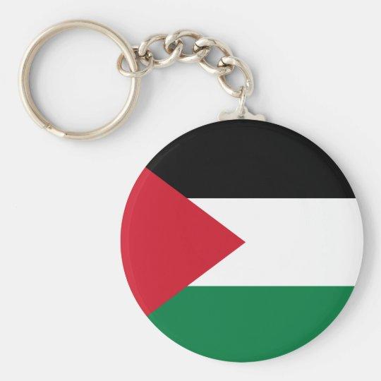 Palästina-Flagge Keychain Standard Runder Schlüsselanhänger