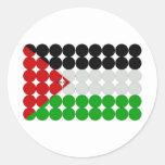 Palästina-Flaggen-Kreise Runder Sticker