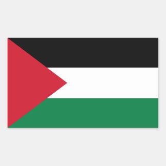 Palästina/palästinensische Flagge Rechteckiger Aufkleber