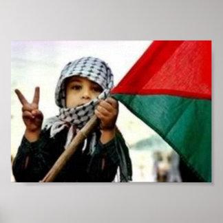 Palästinensisches Kind für Frieden Poster