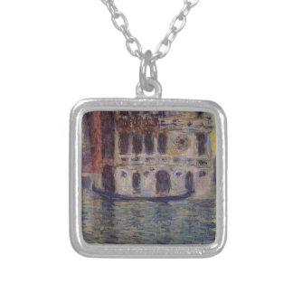 Palazzo Dario 3 durch Claude Monet Versilberte Kette