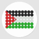 Palestine Flag Circles Stickers