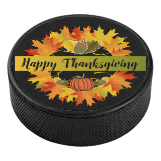 Palet De Hockey Galet d'hockey de thanksgiving de guirlande de
