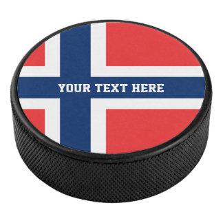 Palet De Hockey Le galet d'hockey fait sur commande de drapeau de