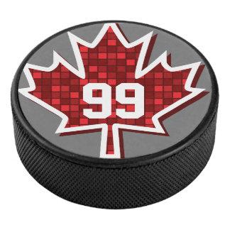 Palet De Hockey Nombre personnalisé, galet d'hockey de feuille