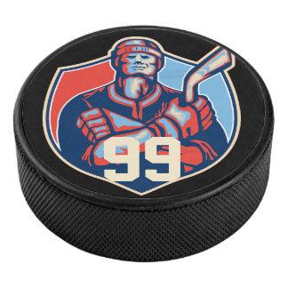 Palet De Hockey Rétro joueur de hockey, galet d'hockey