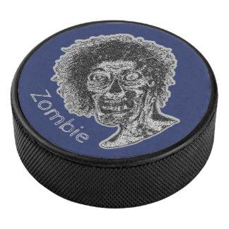 Palet De Hockey Zombi - noir et gris sur le bleu