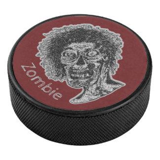 Palet De Hockey Zombi - noir et gris sur le rouge