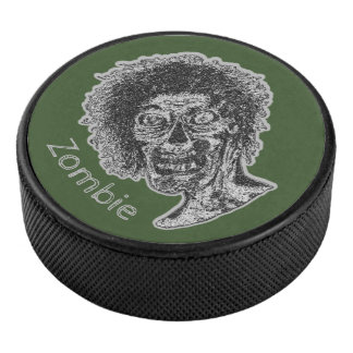 Palet De Hockey Zombi - noir et gris sur le vert