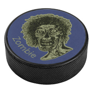 Palet De Hockey Zombi - vert sur le bleu