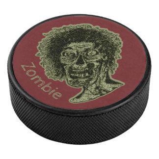 Palet De Hockey Zombi - vert sur le rouge