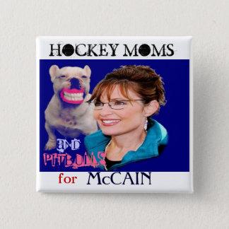 Palin/Pitbull quadratischer Knopf Quadratischer Button 5,1 Cm