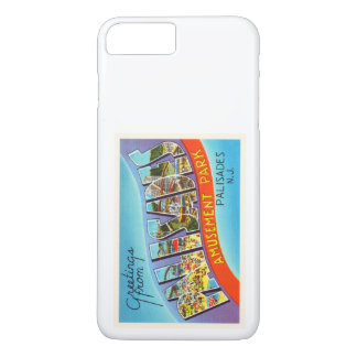 Palisades-New-Jersey NJ Vintage Reise-Postkarte iPhone 7 Plus Hülle