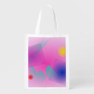 Pâlissez - la composition abstraite simple rose sac d'épicerie