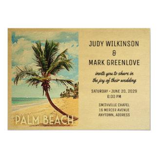 Palm Beach, das Einladungs-Strand-Palme Wedding 12,7 X 17,8 Cm Einladungskarte