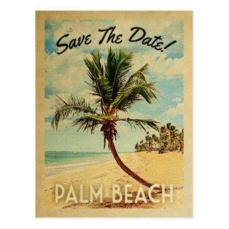 Palm Beach Florida Save the Date Vintag Postkarte
