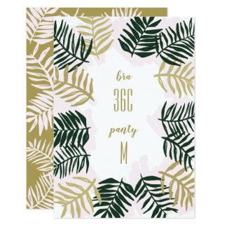 Palm Getaway Bachelorette Party Invitation Insert Karte