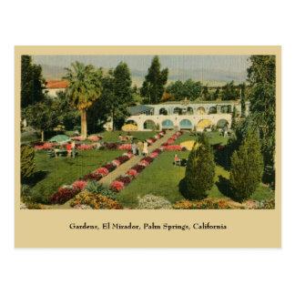 Palm Springs CA Garten-EL Mirador Postkarte