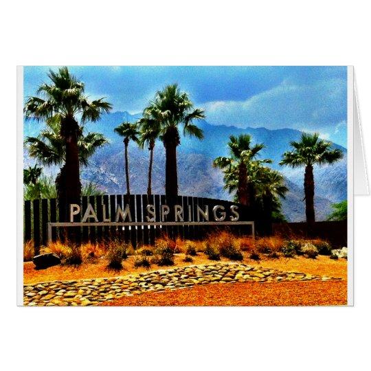 Palm Springs-Kunst-Karte Grußkarte