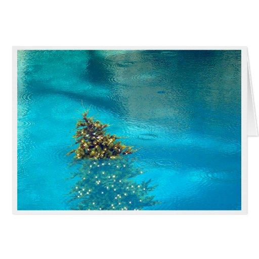 Palm Springs-Weihnachtsbaum in der Pool-Karte