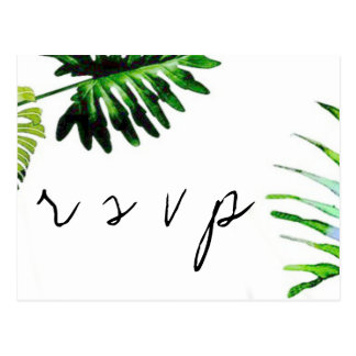 Palmblätter, die UAWG-Postkarten wedding sind Postkarten
