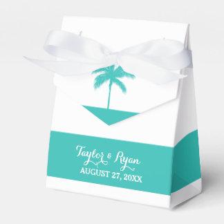Palme-Aqua-Gastgeschenk Hochzeits-Kasten Geschenkkartons
