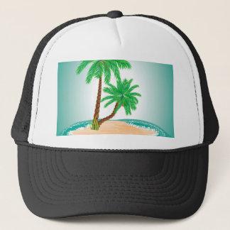 Palme auf Insel Truckerkappe