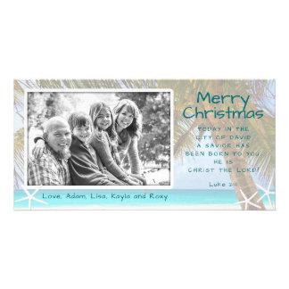 Palme-christliche Strand-WeihnachtsFoto-Karte Karte