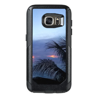 Palme-düsterer blauer Sonnenaufgang OtterBox Samsung Galaxy S7 Hülle