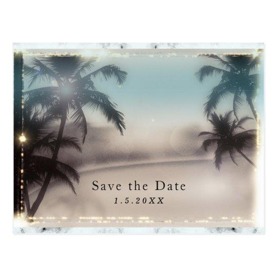 Palme-elegante tropische Strand-Einladung Postkarte