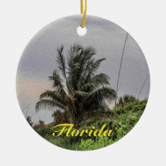 Palme-Florida-Baum-Verzierung Rundes Keramik Ornament